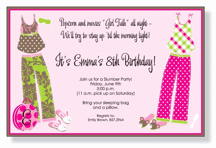 Pajama Party Invitation Wording Awesome Patry Pjs Invitations by Inviting Pany Invitation Box