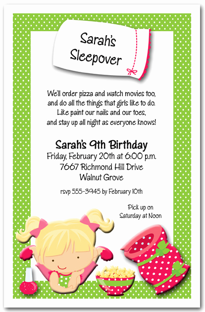 Pajama Party Invitation Wording Awesome Sleepover Party Invitations Girls Pajama Party Invitations
