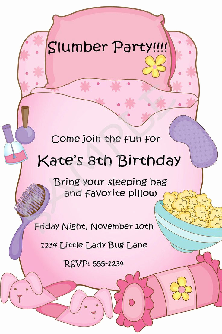 Pajama Party Invitation Wording Beautiful Best 25 Slumber Party Invitations Ideas On Pinterest