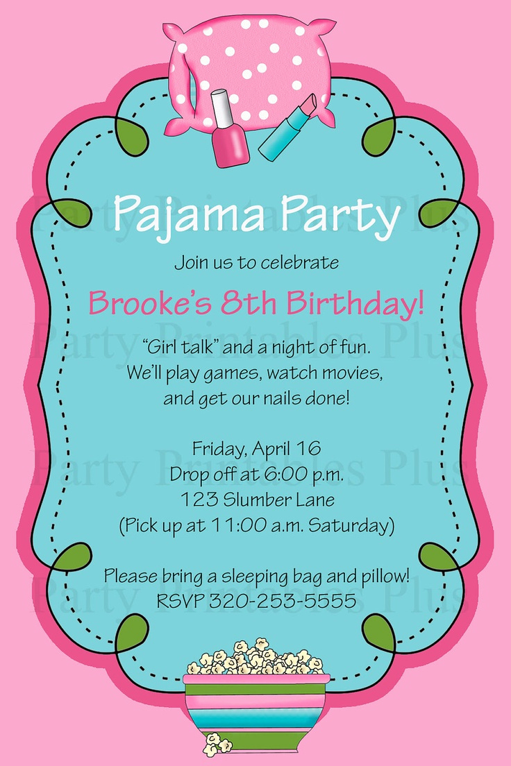 Pajama Party Invitation Wording Best Of 35 Best Images About Party Invitations On Pinterest
