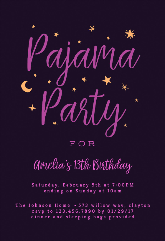 Pajama Party Invitation Wording Best Of Pajama Party Sleepover Party Invitation Template Free