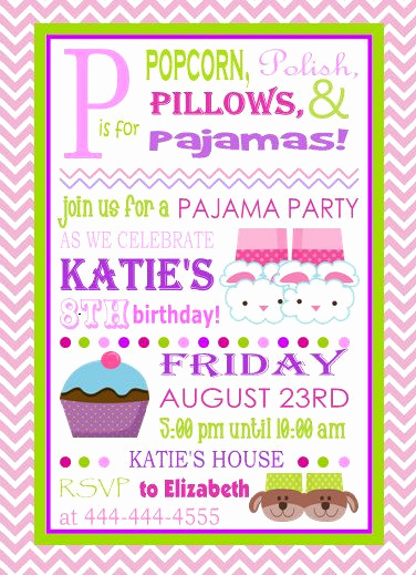 Pajama Party Invitation Wording Fresh 25 Best Ideas About Slumber Party Invitations On