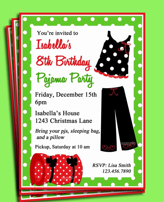 Pajama Party Invitation Wording Fresh Items Similar to Pajama Party Printable Invitation