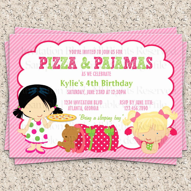 Pajama Party Invitation Wording Inspirational La S Pajama Party Clipart Clipart Suggest