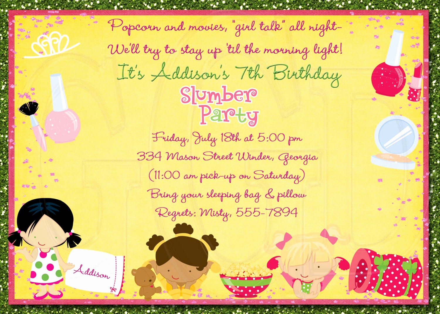 Pajama Party Invitation Wording Unique Slumber Party Invitation Pajama Party Digital File