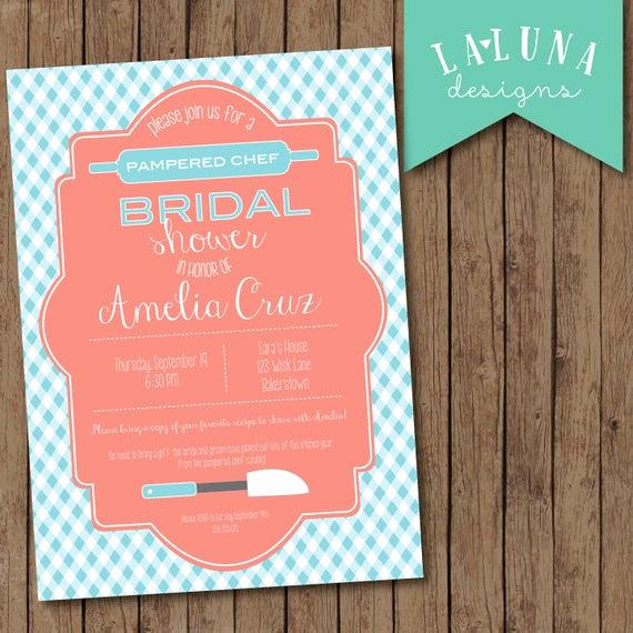 Pampered Chef Bridal Shower Invitation Beautiful Items Similar to Kitchen Bridal Shower Invitation