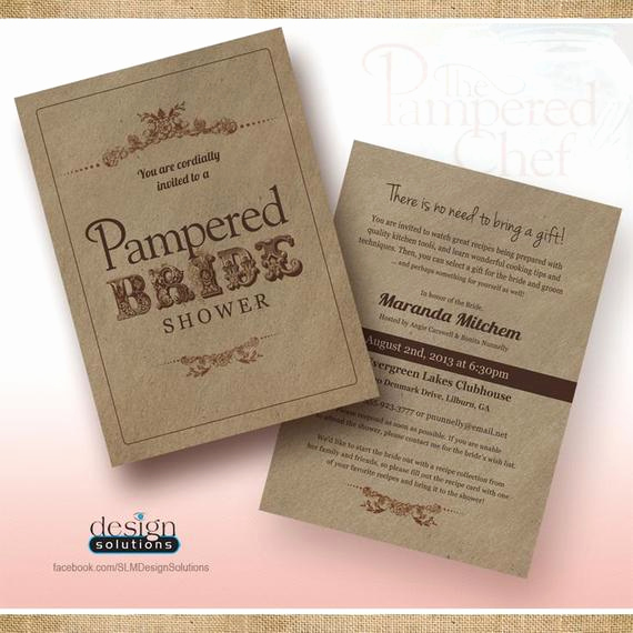 Pampered Chef Bridal Shower Invitation Beautiful Items Similar to Unique Pampered Chef Bridal Shower