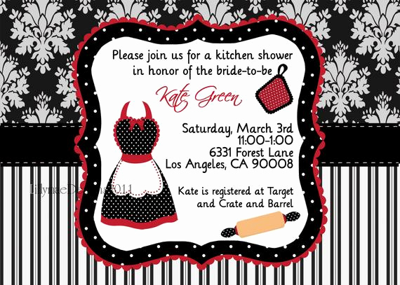 Pampered Chef Bridal Shower Invitation Best Of Kitchen Shower Invitation Pampered Chef Party Apron