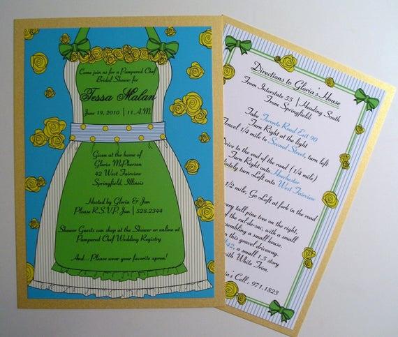 Pampered Chef Bridal Shower Invitation Elegant Items Similar to Pampered Chef themed Apron Bridal Shower