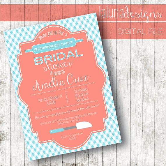 Pampered Chef Bridal Shower Invitation Lovely 1000 Images About Pampered Chef On Pinterest
