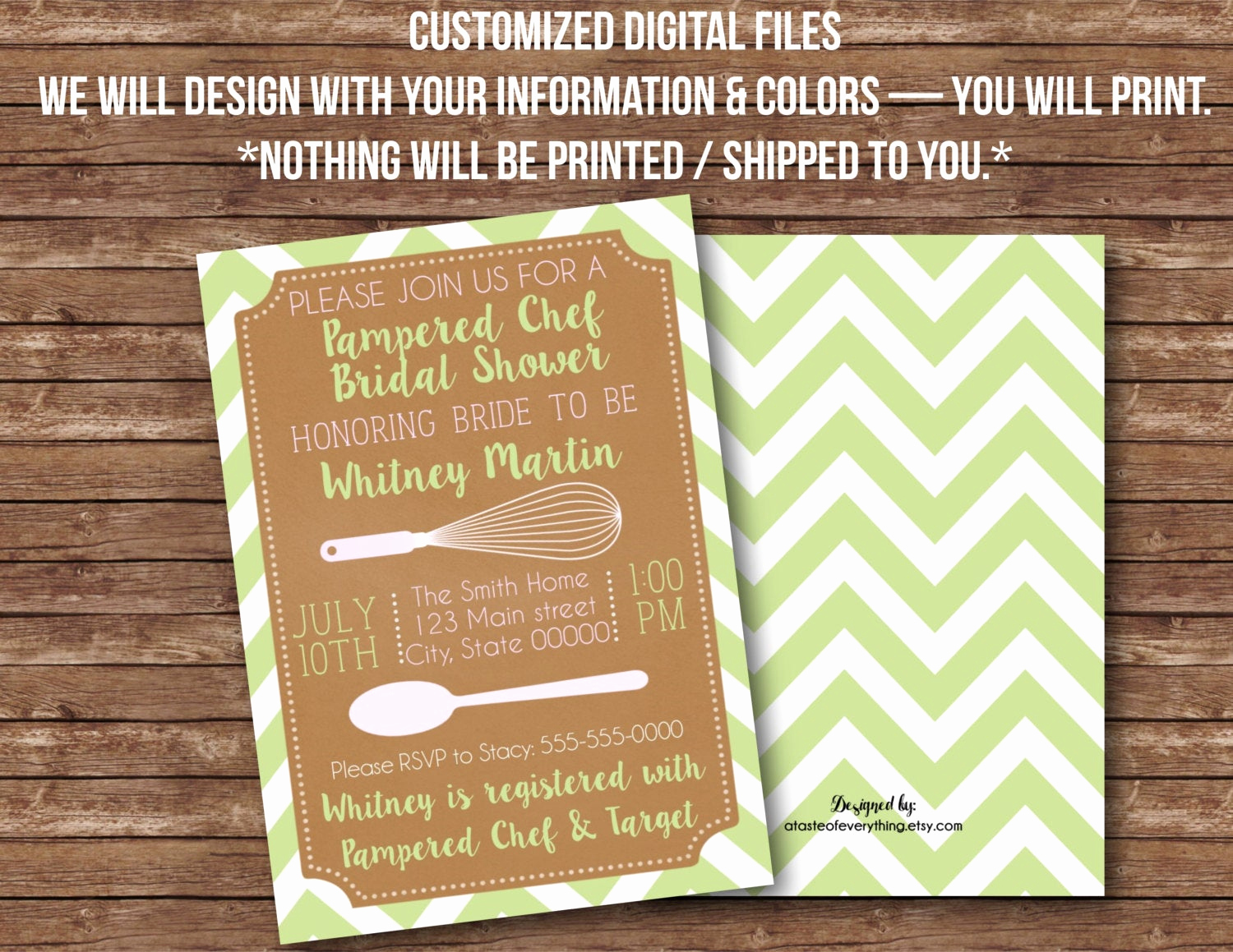 Pampered Chef Bridal Shower Invitation Lovely Digital Files Pampered Chef Kitchen Bridal Shower Baby Shower