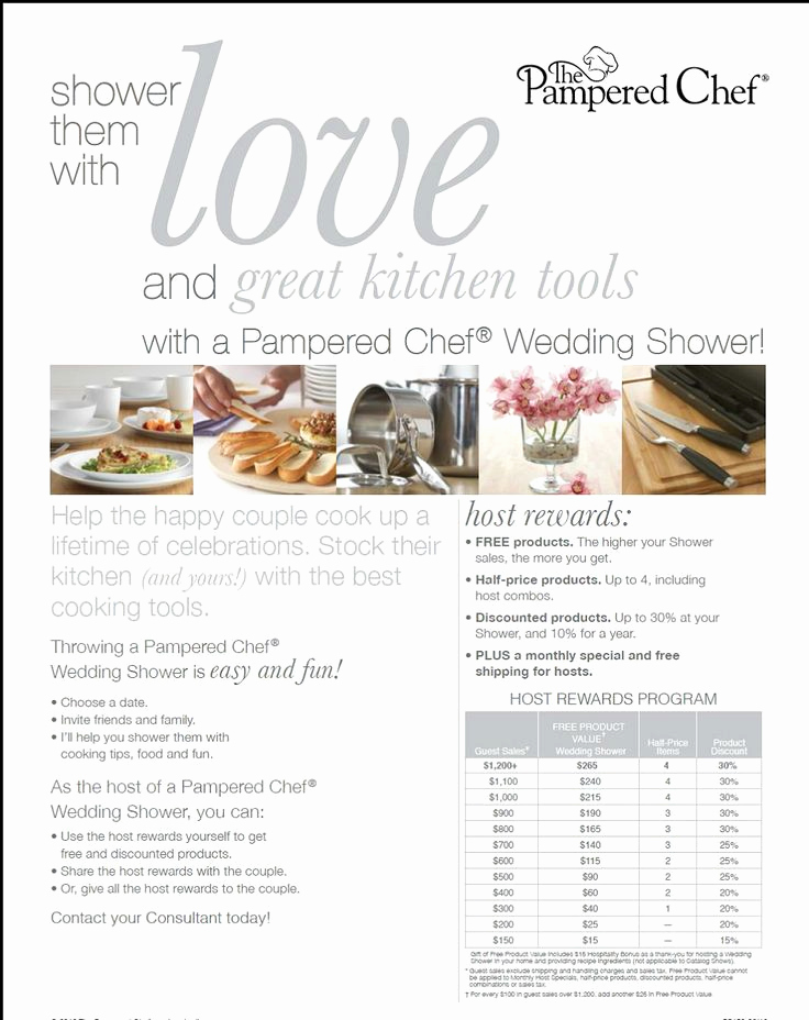 Pampered Chef Bridal Shower Invitation Lovely Here is the Wedding Shower Flyer Contact Me if someone