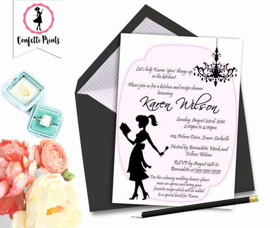 Pampered Chef Bridal Shower Invitation New Kitchen Bridal Shower Invitation
