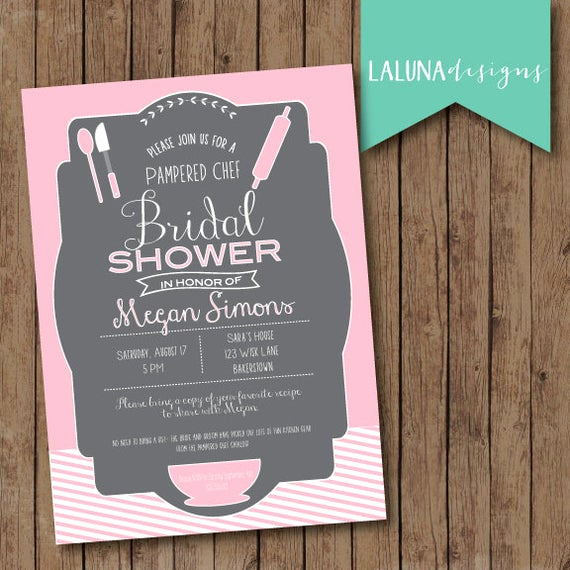 Pampered Chef Bridal Shower Invitation New Kitchen Bridal Shower Invitation Pampered Chef by
