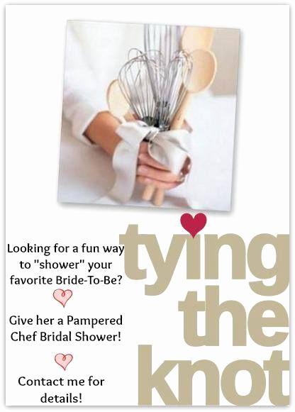 Pampered Chef Bridal Shower Invitation New Pampered Bride Registry Shower