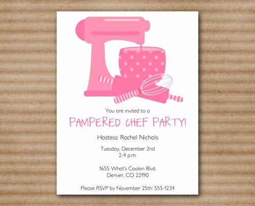 Pampered Chef Bridal Shower Invitation Unique Pampered Chef Invitation Cooking Kitchen by