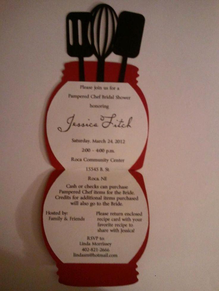Pampered Chef Bridal Shower Invitation Unique Pampered Chef Invitations