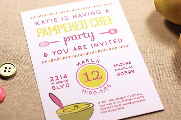 Pampered Chef Bridal Shower Invitation Unique Pampered Chef Party Invitation for Kitchen Supplies