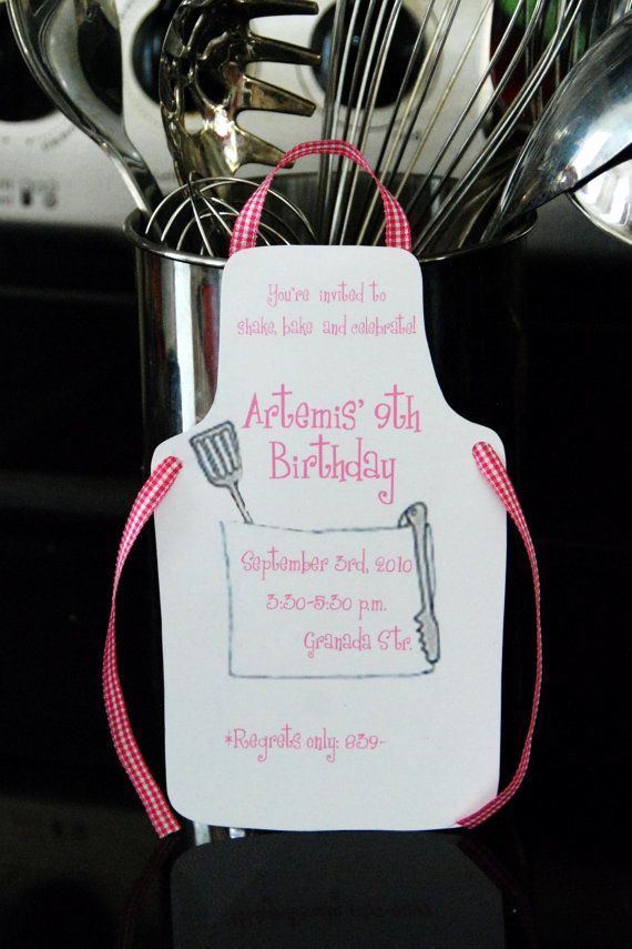 Pampered Chef Invitation Template Awesome Bbq Apron Invitation by Palmbeachpolkadots $2 00