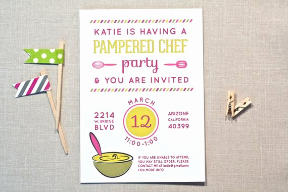 Pampered Chef Invitation Template Awesome Items Similar to Pampered Chef Party Invitation for