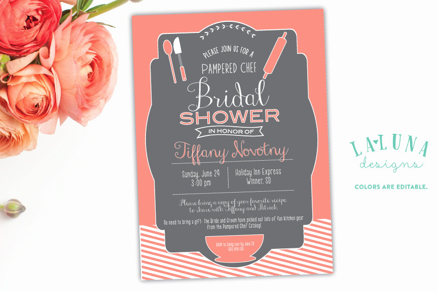 Pampered Chef Invitation Template Best Of Kitchen Bridal Shower Invitation Pampered Chef Bridal Shower