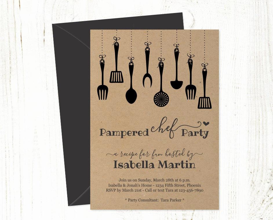 Pampered Chef Invitation Template Elegant Pampered Chef Party Invitation Template Printable Rustic