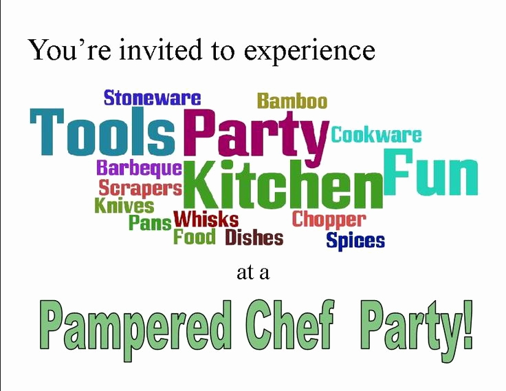 Pampered Chef Invitation Template Elegant Printable Pampered Chef Invitations