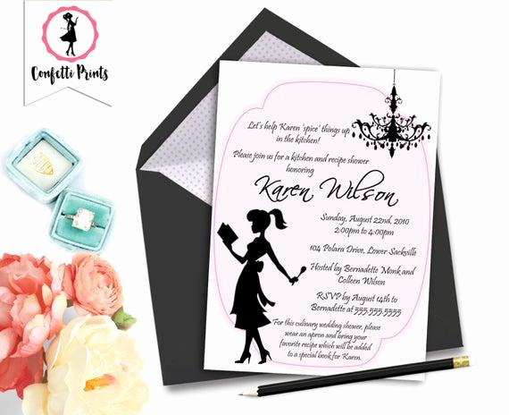 Pampered Chef Invitation Template Inspirational Kitchen Bridal Shower Invitation