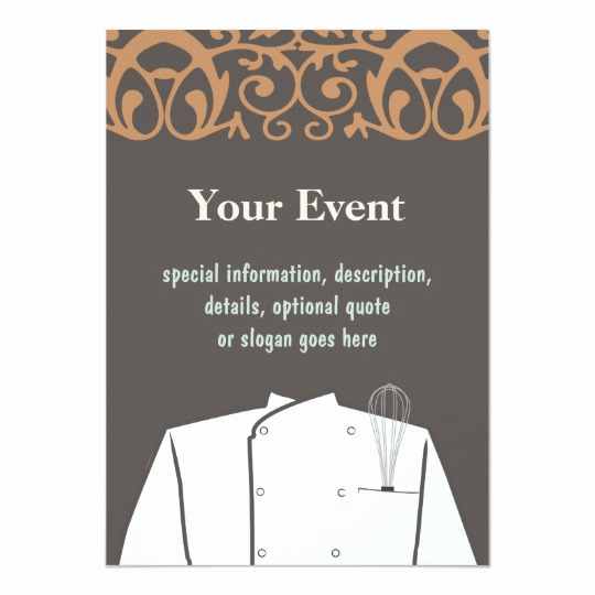 Pampered Chef Invitation Template Lovely Culinary Chef Invitation