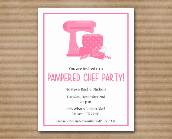Pampered Chef Invitation Template Lovely Printable Pampered Chef Party Invitation by Paperhousedesigns