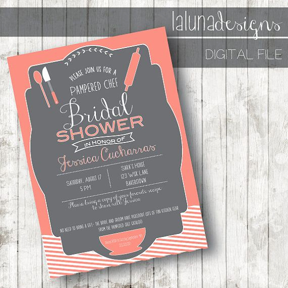 Pampered Chef Invitation Template Luxury 1000 Images About Pampered Chef Bridal Shower Ideas On