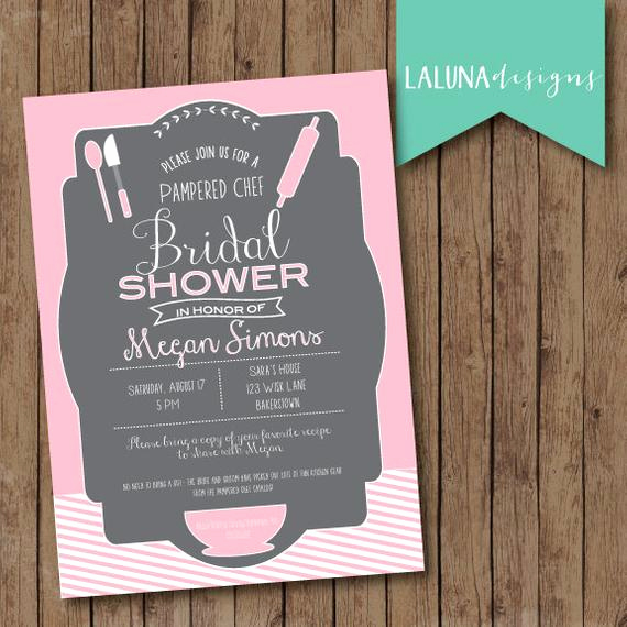 Pampered Chef Invitation Template Luxury Kitchen Bridal Shower Invitation Pampered Chef by