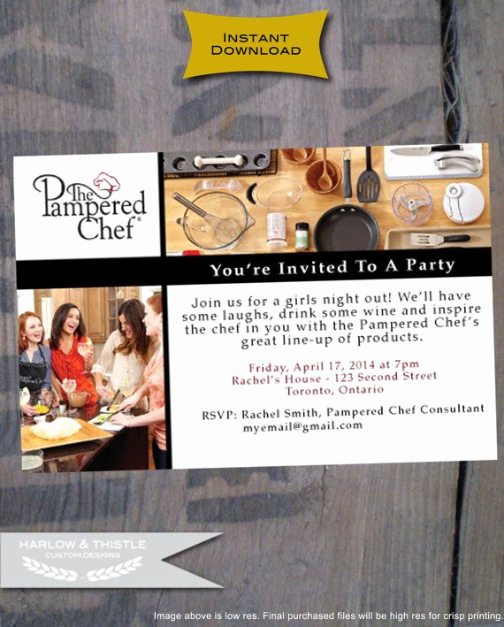 Pampered Chef Party Invitation Beautiful Instant Download Pampered Chef Party by Harlowandthistle