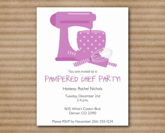 Pampered Chef Party Invitation Elegant Pampered Chef Party Invitation Cooking by