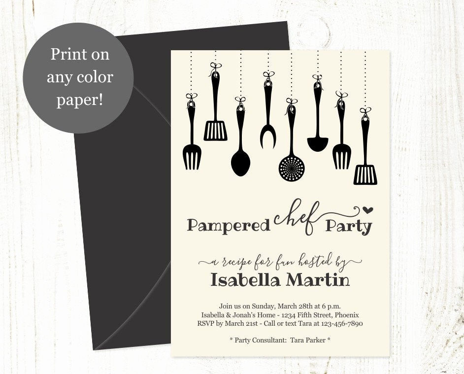Pampered Chef Party Invitation Fresh Pampered Chef Party Invitation Template Printable Rustic