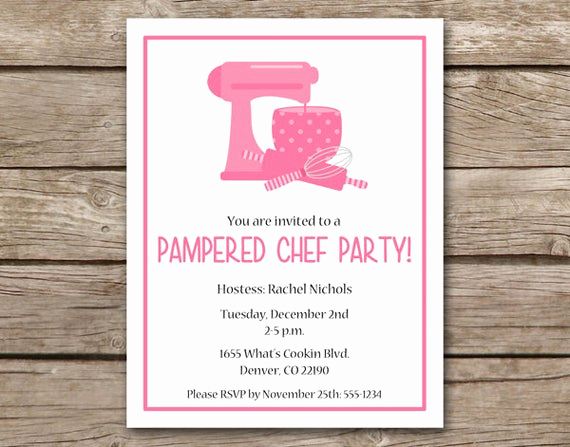 Pampered Chef Party Invitation Luxury Printable Pampered Chef Party Invitation by Paperhousedesigns