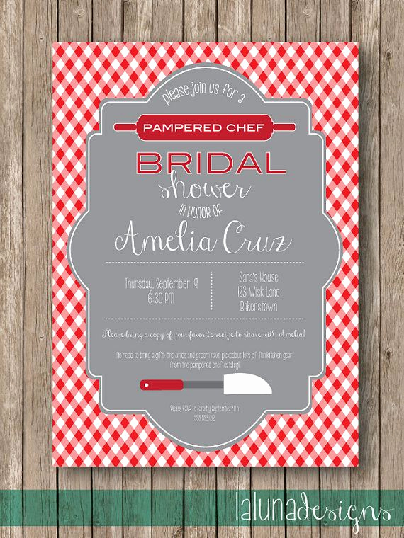 Pampered Chef Party Invitation New Kitchen Party Bridal Shower Invite Pampered Chef by