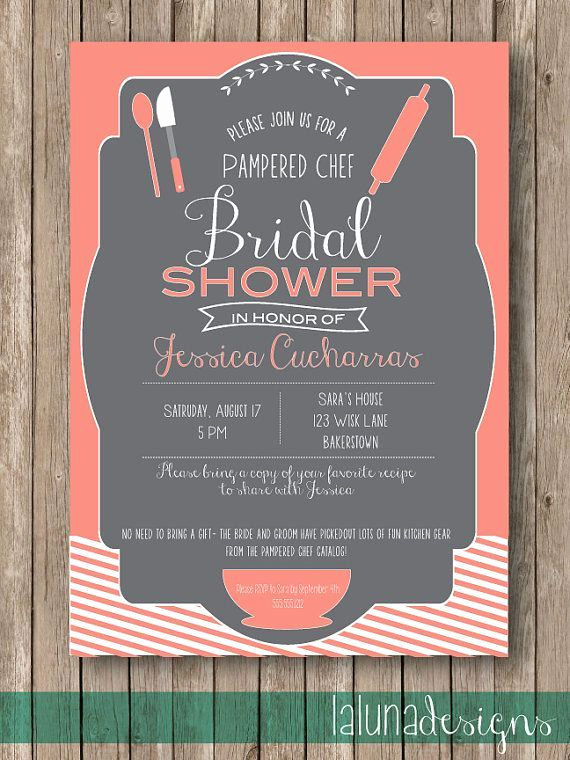 Pampered Chef Party Invitation New Pampered Chef Bridal Shower Invitations Google Search