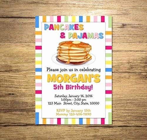 Pancakes and Pajamas Invitation Awesome Amazon Pancakes and Pajamas Invitation Pancakes