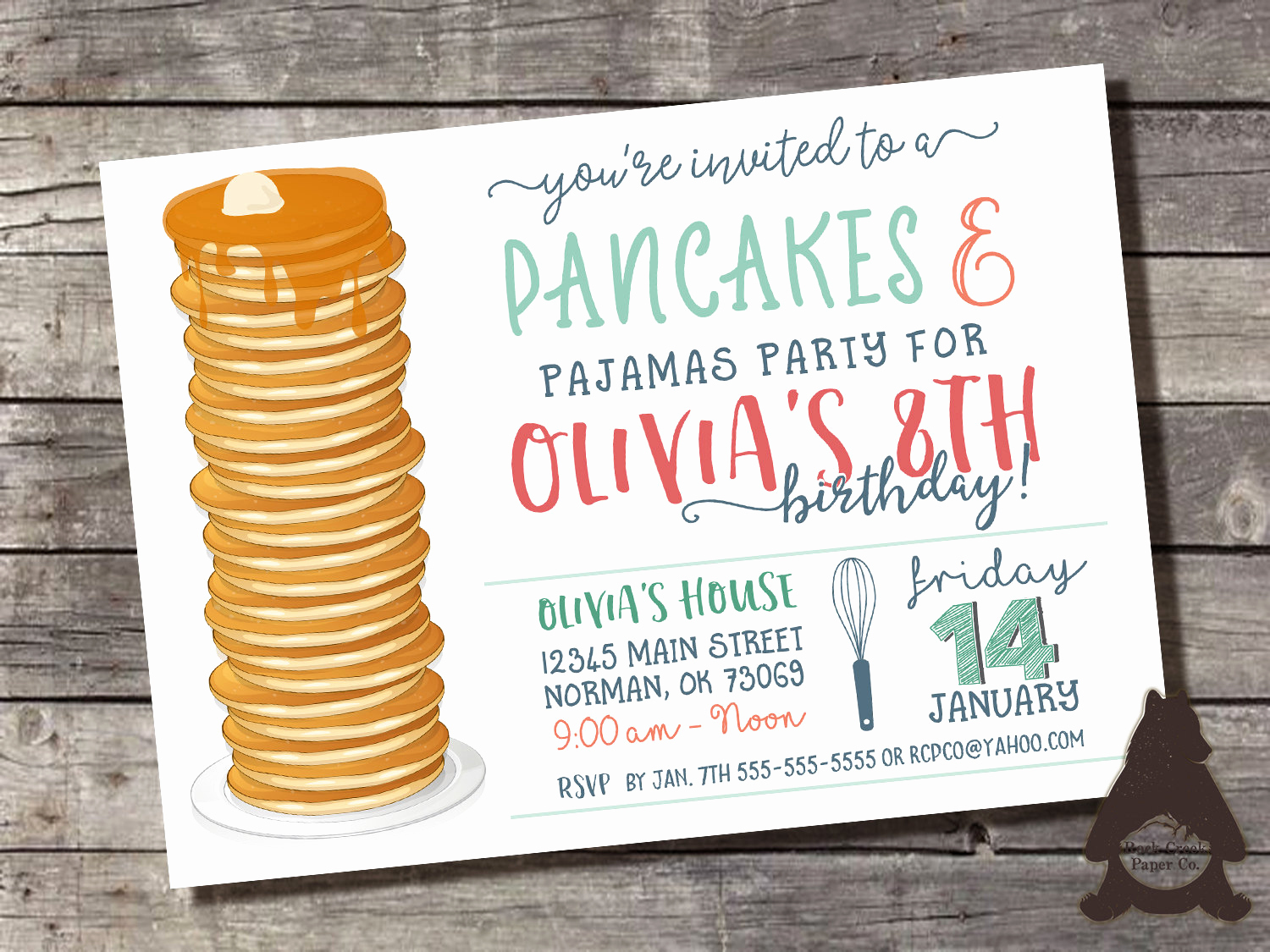 Pancakes and Pajamas Invitation Awesome Pancakes & Pajamas Invitation Pancakes and Pjs by