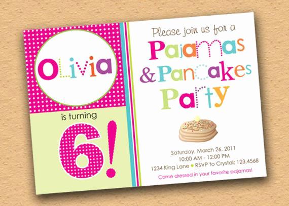 Pancakes and Pajamas Invitation Best Of Items Similar to Pancakes and Pajamas Party Invitation