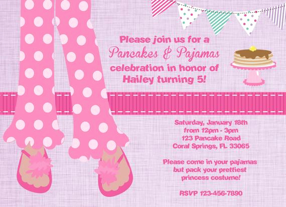 Pancakes and Pajamas Invitation Inspirational Pancakes and Pajamas Party Invitation Digital File