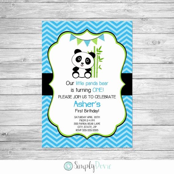 Panda Birthday Invitation Templates Free Awesome Panda Birthday Invitation Printable Panda Bear Birthday Party