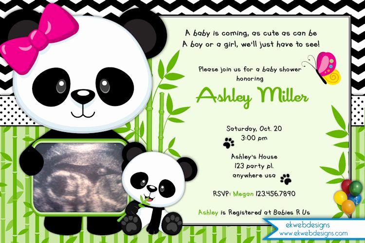 Panda Birthday Invitation Templates Free Beautiful Panda Baby Shower Invitation Panda Bear Invitation