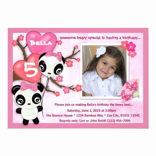 Panda Birthday Invitation Templates Free Best Of Panda Birthday Invitation Pink Black Photo