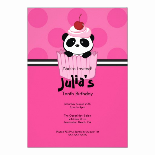 Panda Birthday Invitation Templates Free Best Of Personalized Panda Invitations
