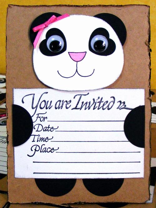 Panda Birthday Invitation Templates Free Fresh 158 Best Panda Birthday Party Images On Pinterest
