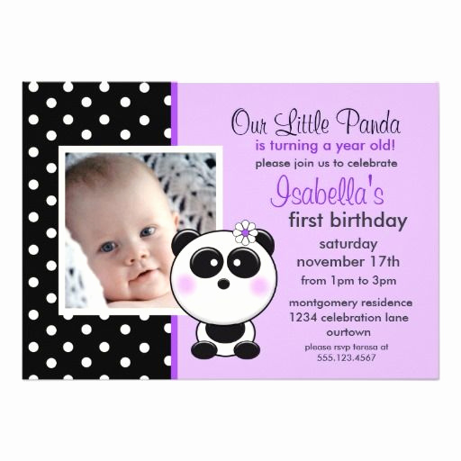 Panda Birthday Invitation Templates Free Fresh 26 Best Penny S First Birthday Partay Images On Pinterest