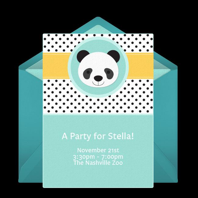 Panda Birthday Invitation Templates Free Inspirational Free Panda Party Invitations