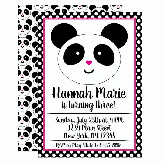 Panda Birthday Invitation Templates Free Inspirational Panda Party Birthday Invitation